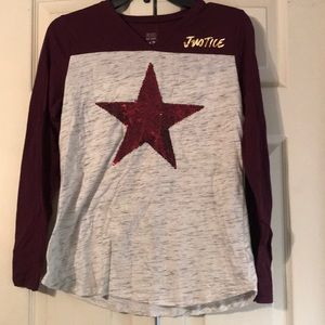 Burgundy justice outfit size 14/16